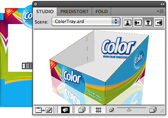 Studio 3D packaging design software for designers, tradeshops and converters